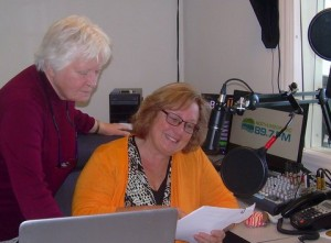 Felicity and Gwynn, recording for Word on the Hills