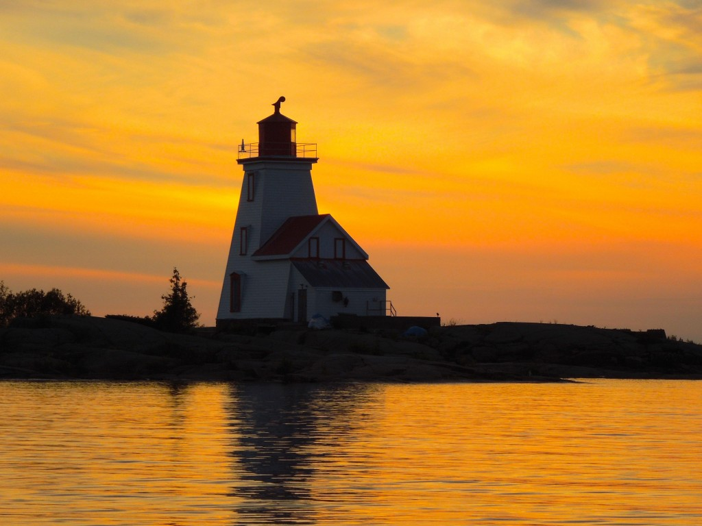Gereaux Island Lighthouse at Sunset, 2015