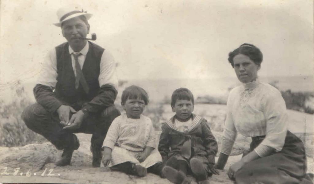 Louis, William, Alcide, and Cecilia Lamondin 1912