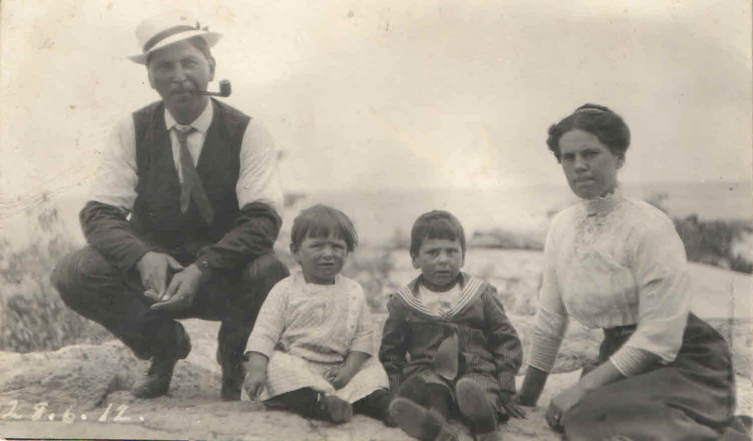 Louis, William, Alcide, and Cecilia Lamondin 1912