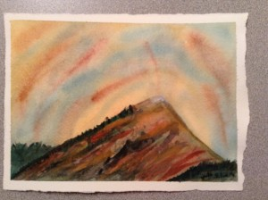 Mountain Watercolour