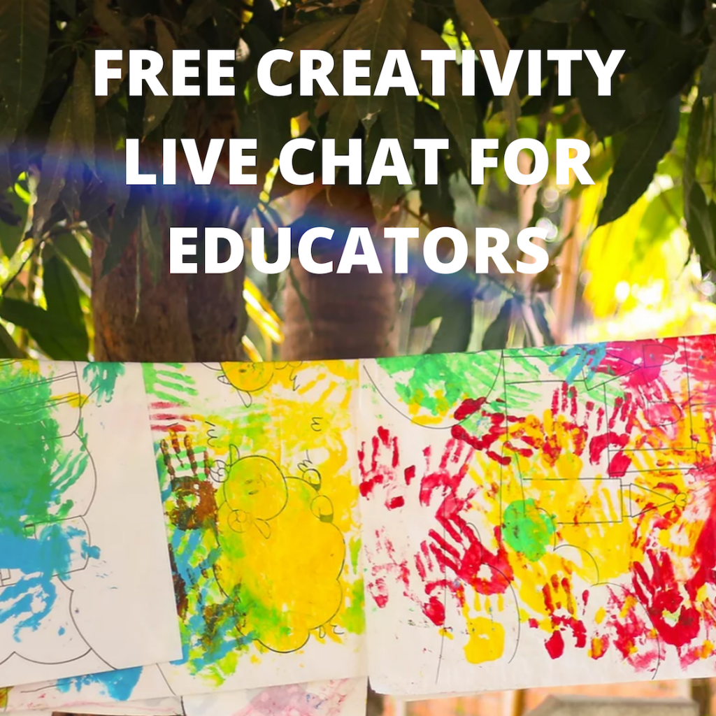 Free creativity live chat for educators.